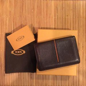 TOD'S Mens Business/Credit Card Holder